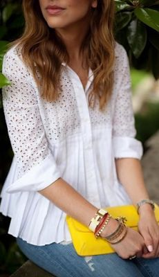 summer fashion and style witha yellow pop of color Passion For Fashion, Love Fashion, Fashion Looks, Womens Fashion, Fashion Tips, Fashion Design, Casual Chic Style, Style Me, Spring Summer Fashion