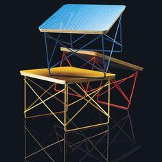 A empresa Herman Miller trouxe ao Brasil as mesas de apoio Eames Wire Base Low. Com tampo de pedra, compensado colorido ou natural. Preço sugerido R$ 922,50. www.issoehermanmiller.com.br