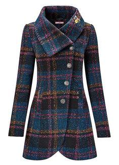 Asymmetric Collar Coat by Joe Browns Keep Warm, Fashion Outfits, Womens Fashion, Wool Coat, Winter Coat, Winter Fashion, Collars, Stylish, Clothes For Women