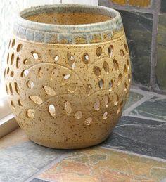 Handmade Ceramic Candle Luminary,Candle Holder,Pretty Little Liars,Tea Light Holder, Candle Votive, Meditation