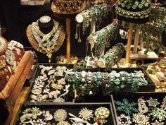 Another shot of vintage jewelry.along with scarves. Canadian Costume, Communal Table, Enchanted Garden, Banquet, The Hobbit, Costume Jewelry, Vintage Jewelry, Jewelry Design, Merry