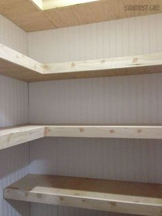 How to Build Corner Floating Shelves How to Build Corner Floating Shelves,For the Home How to Build Corner Floating Shelves – Sawdust Girl® Related posts:How to Build Pantry Shelving - Diy pantry shelvesapple ciders. Home Renovation, Home Remodeling, Bathroom Remodeling, Regal Bad, Pantry Shelving, Laundry Room Shelving, Wall Shelving, Floating Shelves Bathroom, Bathroom Storage