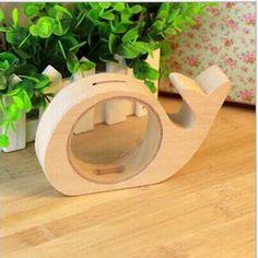 C$ 10.78 9x15 cm En Bois Cochon Tirelire Cadeaux pour enfants Moenybox Tirelire Coin Tirelire Transparente Boîte D'économie