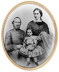 """A lovely """"would have been"""" photo of Thomas, Anna and little Julia.  From the Stonewall Jackson House website"""