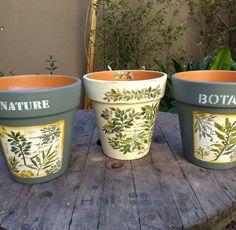 Terracotta Pots, Clay Pots, Flower Pots, Decoupage, Planter Pots, Gardening, Mugs, Diy, Inspiration