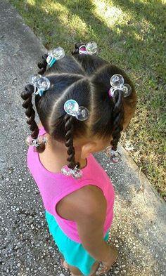 Simple classic ponytails