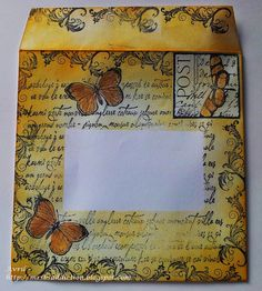Mrs. B's Crafting Addiction looks like you could make envelope out of anything, then add label or cut window.