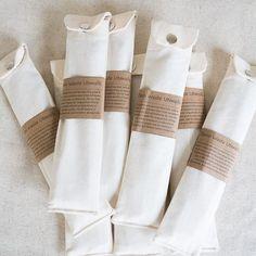 sustainable living A full set of utensils including a bamboo fork, knife and spoon, plus a stainless Pouch Packaging, Metal Straws, Stainless Steel Straws, Sustainable Living, Fabric Scraps, Zero Waste, Biodegradable Products, Diy Gifts, Packaging Design