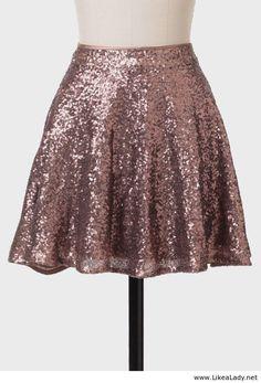 Bronze Goddess Sequined Skirt