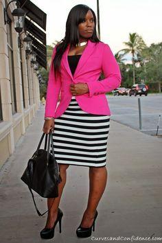 Ideas para ir bien vestida a la oficina si eres gordita