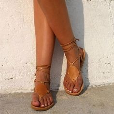 Plain Flat Peep Toe Casual Date Flat Sandals - Women Shoes Strappy Block Heels, Strappy Sandals, Flat Sandals, Anchor Sandals, Shoes Sandals, Brown Sandals, Gladiator Sandals, Uganda, Georgia
