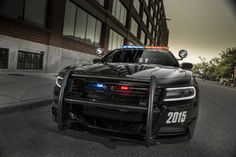 Chrysler has released details of the 2015 Dodge Charger Pursuit, the latest iteration of its four-door muscle car designed for police use. 2015 Dodge Charger, Mopar Jeep, Charger Srt Hellcat, Challenger Srt, Automobile, Ford, Gt Cars, Emergency Vehicles, Police Cars