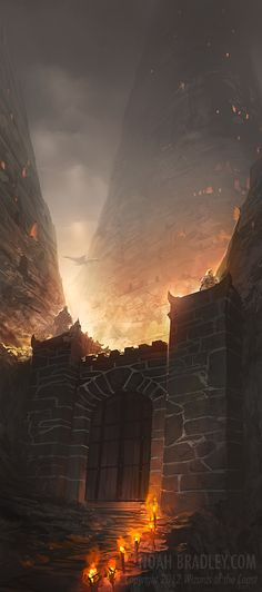 Click for link to deviantart. Castle, with fire swirling all around. End of days? Maybe. Dystopian. Apocalyptic. Decaying building, destroyed lives. Apocalypse Now. -Lindseigh