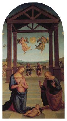 Perugino - Polittico di s.Agostino- Natività.