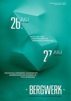 Bergwerk –  Ausstellung der Fakultät Gestaltung Würzburg – Sommer 2013