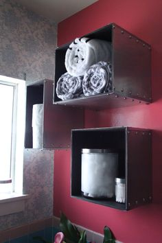 IKEA Hackers: Prant storage boxes become steam punk wall storage