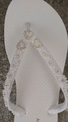 Heart Bridal Flip Flops  Size 5 thru 11 by IslandToes on Etsy, $50.00
