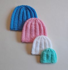 Knitting Patterns Galore - Perfect Premature Unisex Baby Hats