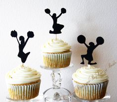 Cheerleader Cupcake Toppers by CreativeDesignsbyLiz on Etsy, $10.00