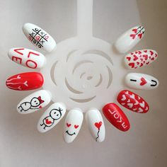Beste Nägel Valentinstag Designs Acryl Ideen N ร . - Beste Nägel Valentinstag Designs Acryl Ideen ร ค gel rosa Si - New Year's Nails, Love Nails, Fun Nails, Valentine Nail Art, Valentines Design, Valentine Nail Designs, Gorgeous Nails, Pretty Nails, Nail Art Wheel