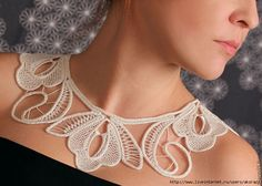 Cannot use link, but how inspiring!  Lace doesn't just lie on a table or trim a babies bonnet.
