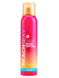 Victoria's Secret Beach Sexy Flawless Airbrush Instant Bronze Body Spray produces an even, natural glow and was our top pick for temporary self-tanners. #victoriassecret #selftanner