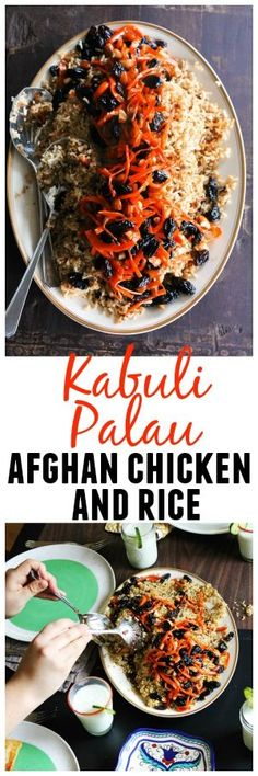 Qabili Palau, also known as Kabuli Palau, is the quintessential Afghan dish served at parties, weddings and celebrations. Qabili is a gorgeous blend of rice, chicken, carrots, raisins and nuts for a crunch.