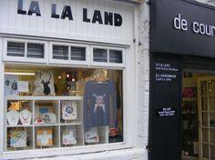 LA LA LAND boutique window.  www.livinginlalaland.co.uk