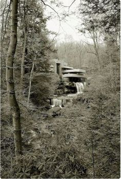 """""""Falling Water"""" from distance"""