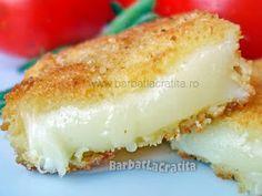 Cascaval pane My Favorite Food, Favorite Recipes, Romanian Food, Romanian Recipes, Tasty, Yummy Food, Appetizer Dips, Cheese Recipes, Vanilla Cake