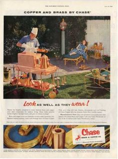 Chase Copper Brass Bbq Outdoor Living Ad T (1955)