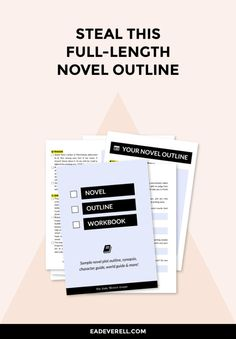 If you can't think of an idea for a novel, you can download this FULL outline & start writing right away! > http://eadeverell.com/free-novel-outline/ #writing