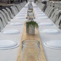 """""""Our Creeping White Thyme (Thymus serpyllum album) was used for table centrepieces at the 100 Mile Dinner held on the Canowindra main street last night.…"""""""