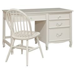 Bolton Furniture Emma Large Pedestal Desk With Four Drawers White