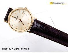 1-5-633-2-R-Kronos esfera redonda y correa de cuero marrÃn L4250 Kronos, Leather, Accessories, Clocks, Jewelry Accessories