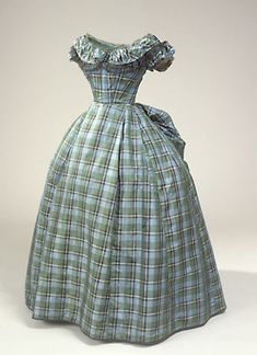historical fashion ~ 1865 dress with evening bodice