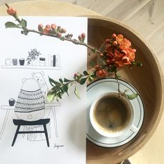 Coffee time  #coffee #time #coffeelover #good #time #goodday #happy #sunday #love #familyday #relax #relaxation #rest #nice #day #home #homesweethome #interior #design #interiordesign #flower #flowers #flowerslovers #spring #chaenomeles #chillout #kwiaty #pigwowiec #wiosna #kawa by magdalena.my.world