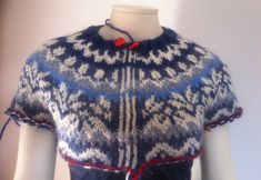 LOPI vest jas WINTERDREAM Christmas Sweaters, Vest, Knitting, Crochet, Pattern, Tops, Fashion, Tricot, Blouse
