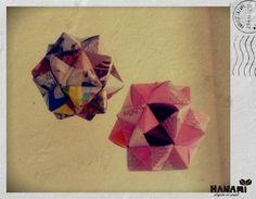 Kusudama, icosaedros con 30 papeles