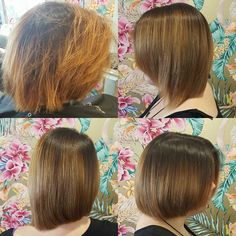 Before & after shot of our @alfaparfusa Keratin Relaxing Treatment. Silky smooth & frizz free locks!  #keratin #keratinspecial #savings #facebookoffer #theradicalhairdesign #thehills #dural #sydneyhairsalons #beforeandafter