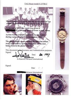 the watches of ayrton senna // tag heuer // formula 1
