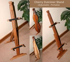 Mountain Dulcimer Folding Stand - Select Wood Type