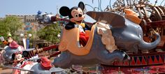 Dumbo the Flying Elephant -- Day 47 in our countdown to #Disneyland series! Image ©Disney Parks