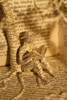 Art within art, books.