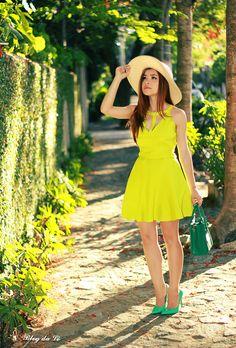 No look tons de verde    por Letícia Oliveira   Blog da Lê       - http://modatrade.com.br/no-look-tons-de-verde