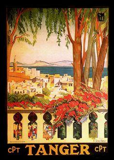 Rabat Morocco Ocean Arab Arabic Tourism Travel Vintage Poster Repro FREE S//H