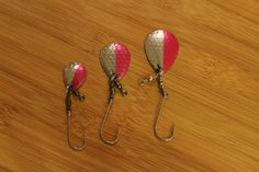 Cleardrift: Stinger Blades! Pink/Silver (3 sizes available!) Selling them for $0.75 and you can find them on our site @ www.Cleardriftfishing.com