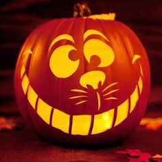 Craft Time: Cheshire Cat Pumpkin Carving Template