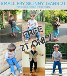 Titchy Threads - PDF Sewing Patterns for Children Small Fry Skinny Jeans size 2T only