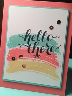 Hello There Work of Art by mfb - Cards and Paper Crafts at Splitcoaststampers